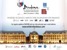 World congress of Veterinary Dermatology - Bordeaux May 31st - June 4th