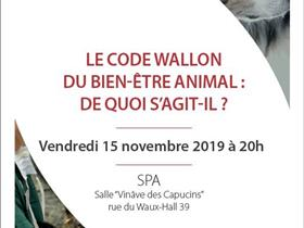 "Conference ""Walloon Code of Animal Welfare"""
